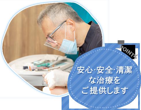安心・安全・清潔な治療をご提供します